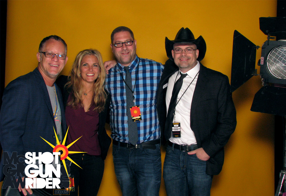 Photo of Scott Siman, Kelly Clague, Brian Kaplan, and James Stewart