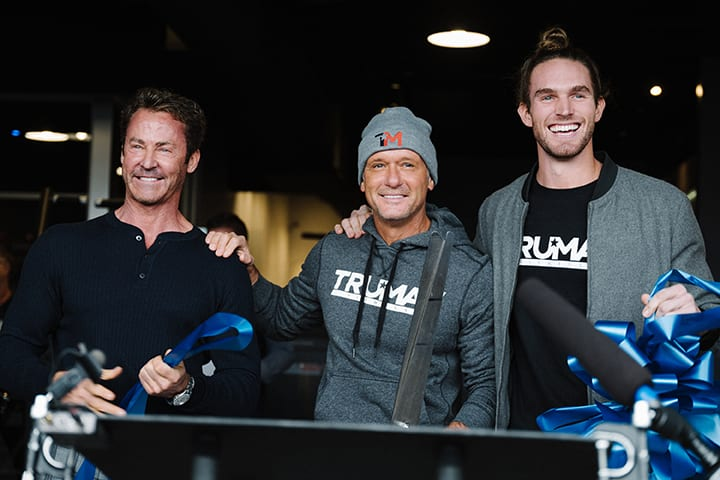 Tim Mcgraw photo opening TruMav Gym